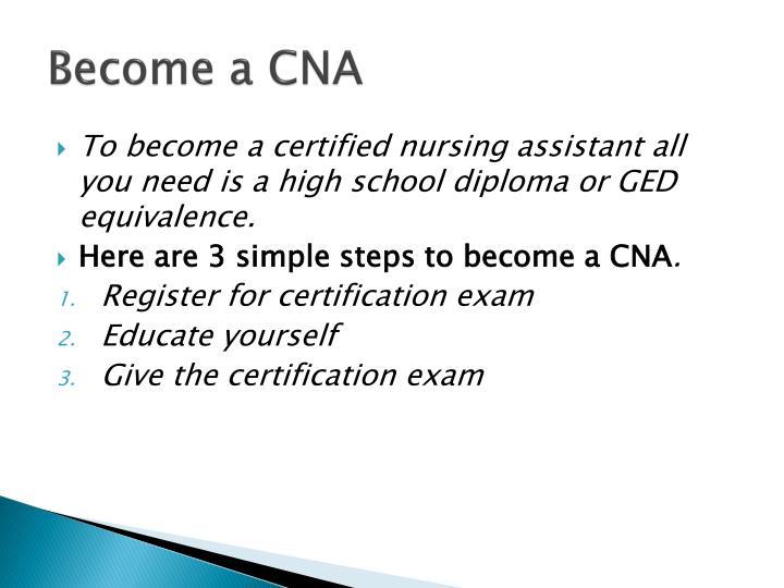 Become a CNA