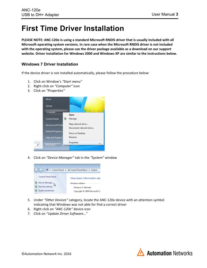 ETAS USB Remote NDIS Network Device - drivers for windows xp