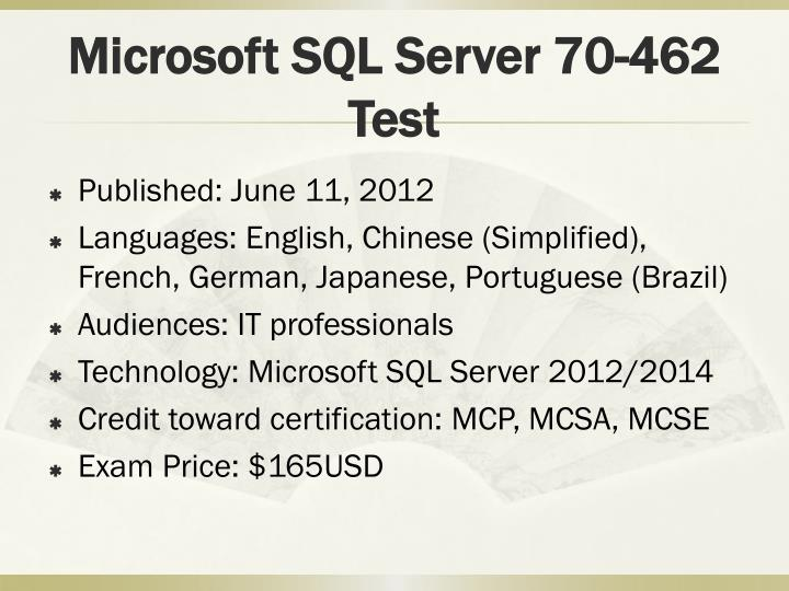 Microsoft Mcsa Sql Server 20122014 Certification Inducedfo
