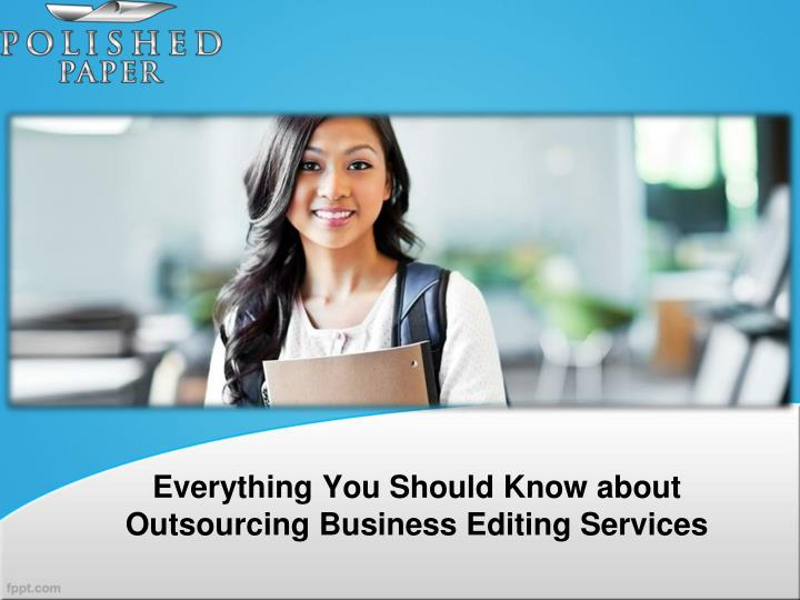 Business editing services