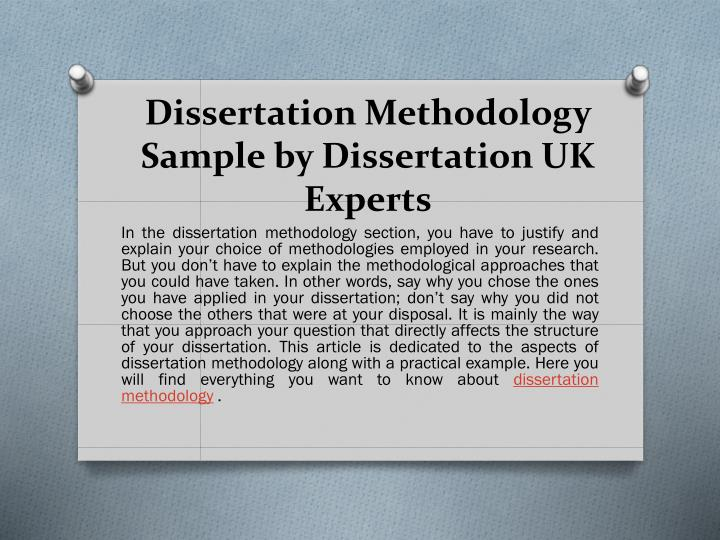 Dissertation methodologies