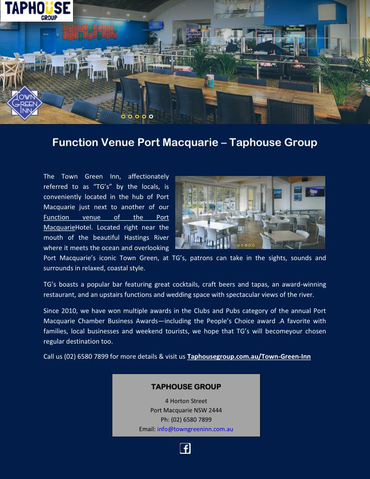 Function Venue Port Macquarie