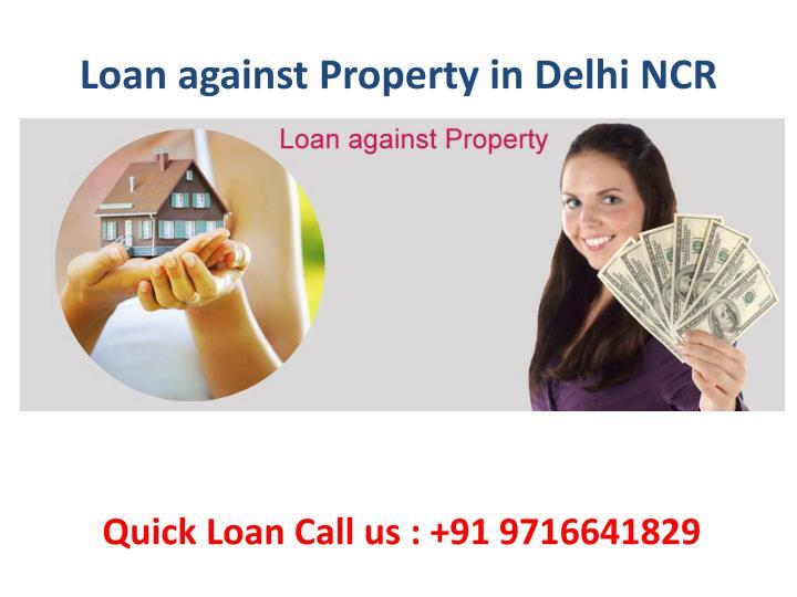 Loan against Property in Delhi NCR