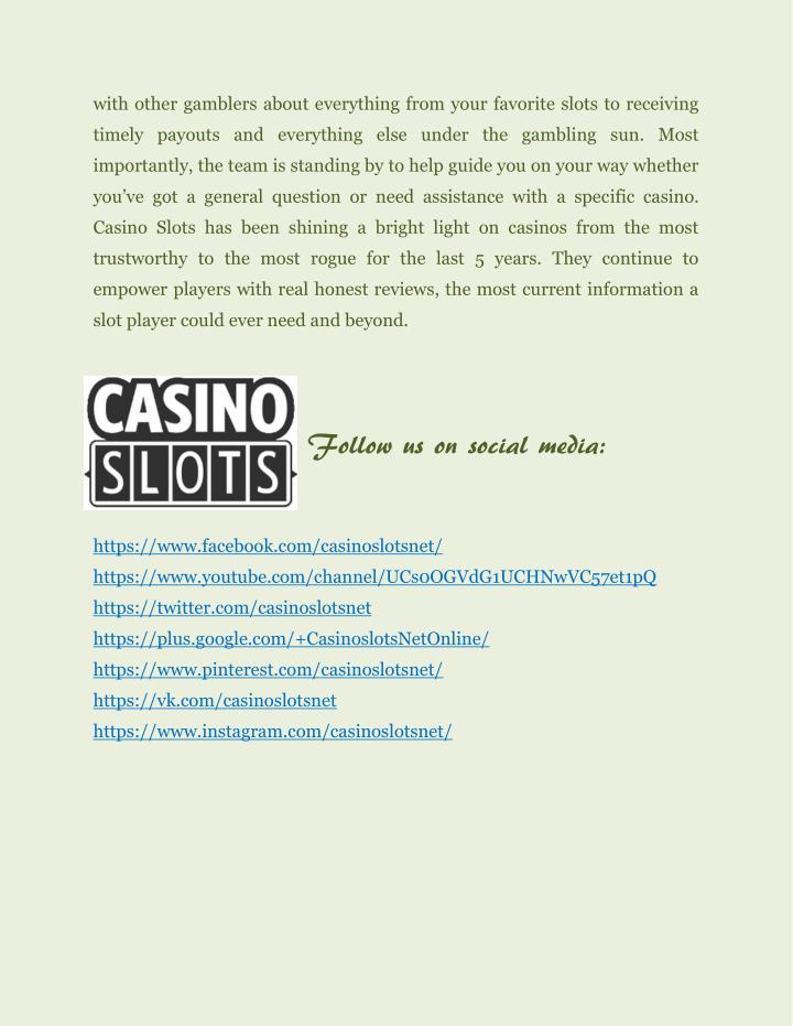 with other gamblers about everything from your favorite slots to receiving