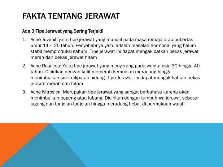 Fakta teNTANG JERAWAT