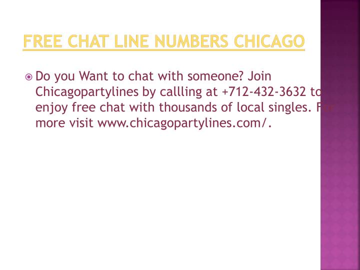 chicago free chat lines