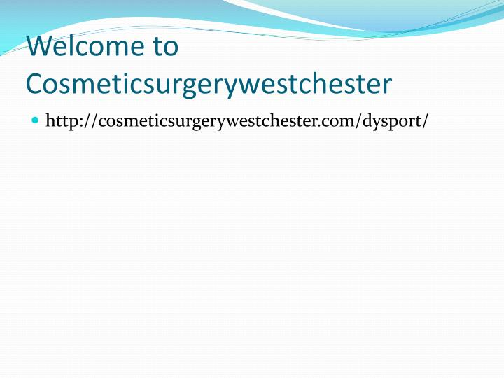 Welcome to cosmeticsurgerywestchester