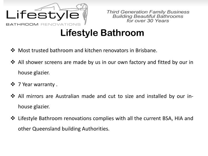 Lifestyle bathroom