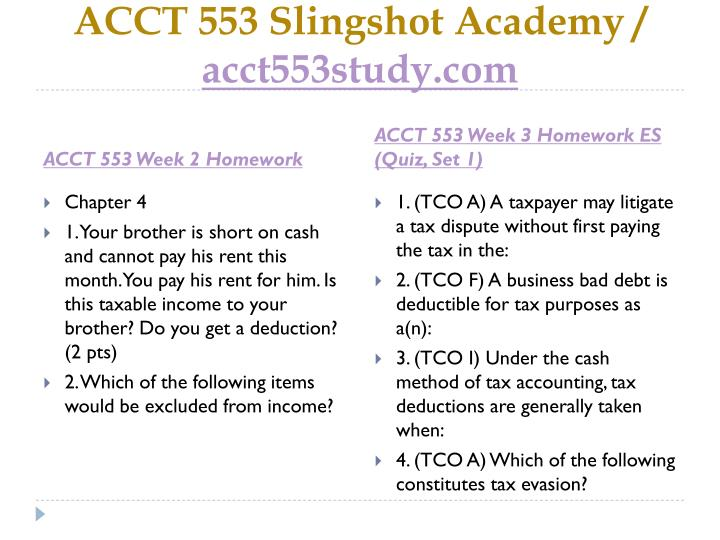 acct 553 week 3 homework es Homework solution acct 559 by mohammad6islam  week 3 homework  solutions week 3 homework  homework es 2 solution acct 553 acct 553 .