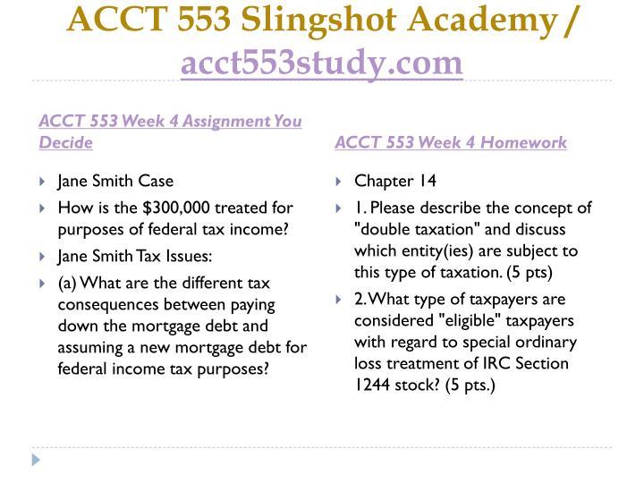 acct 553 week 5 This paper of acct 553 week 3 quiz comprehends: 1 (tco a)  acct 553 week 5 homework $999 acct 553 week 5 quiz $999 acct 553 week 6 homework $999.