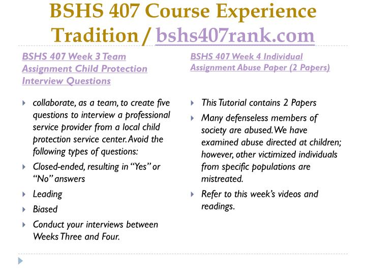 bshs 395 the interview process essay Bshs 395 - the interview process this coursework bshs 395 - the interview process and other 64,000+ term papers, college essay examples and free essays are available now on reviewessayscom autor: ajreid73 • may 23, 2016 • coursework • 872 words (4 pages) • 1,061 views.