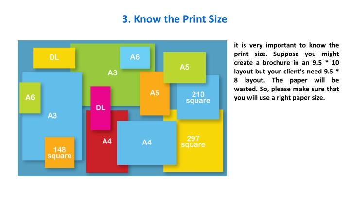 3. Know the Print Size