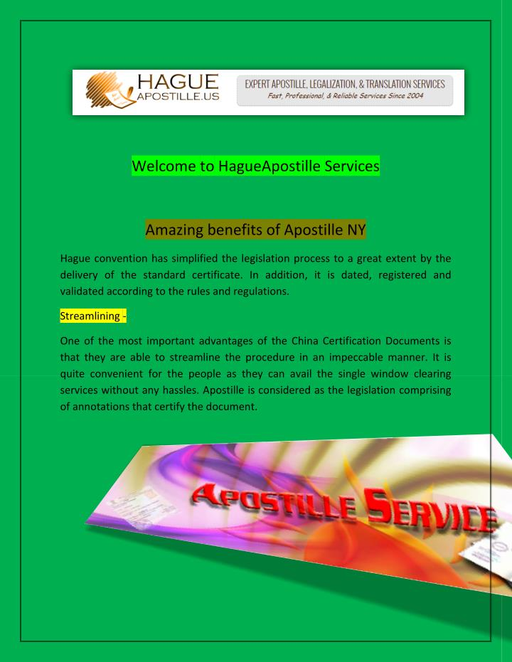 Welcome to HagueApostille Services