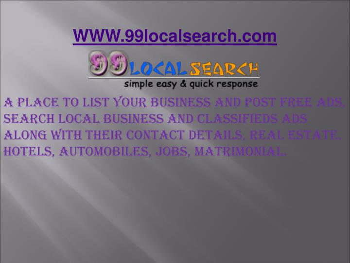 WWW.99localsearch.com