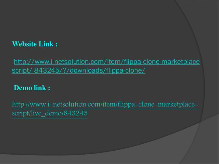 Website Link :