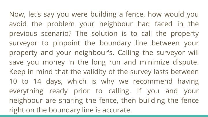 how to know where your property line is
