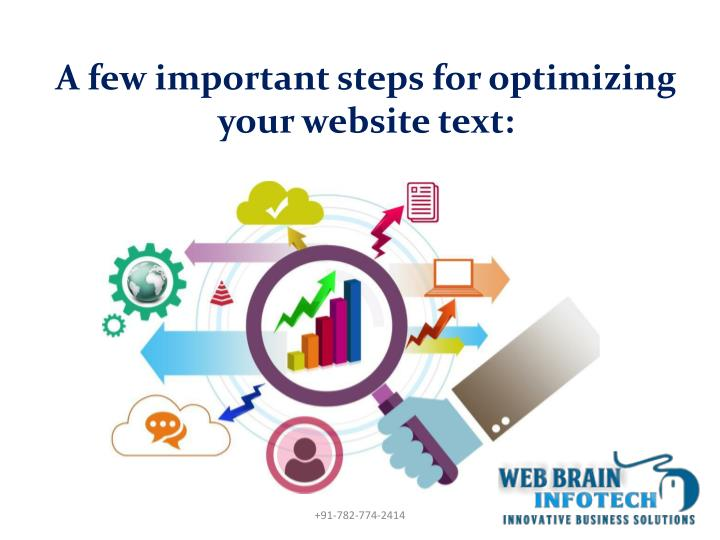 A few important steps for optimizing your website text