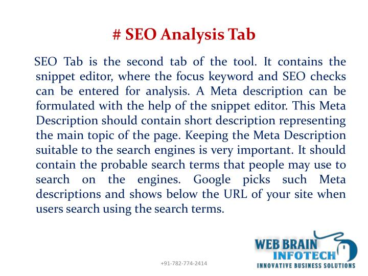 # SEO Analysis Tab