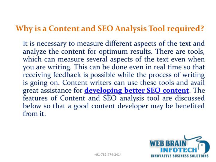 Why is a Content and SEO Analysis Tool required