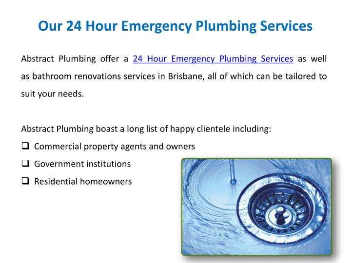 Ppt 24 Hour Emergency Plumber Brisbane Powerpoint