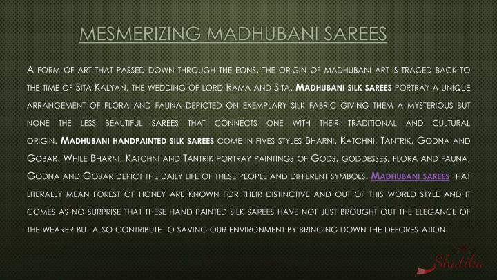 Mesmerizing Madhubani sarees