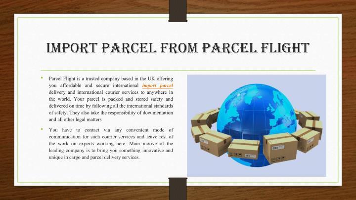 import parcel from Parcel flight