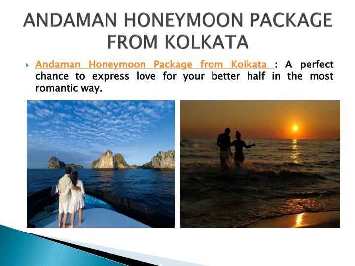 Andaman Honeymoon Tour Package From Kolkata