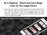 be a magician watch and learn magic tricks on your apple device