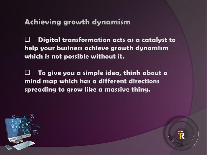 Achieving growth dynamism