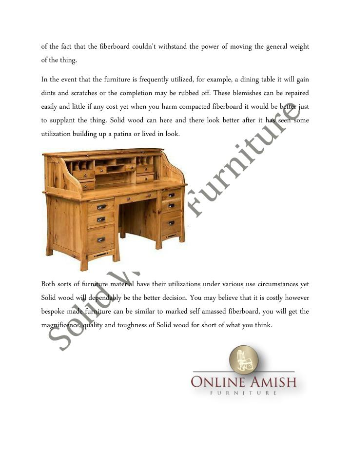 Ppt The Benefits Of Solid Wood Furniture Over Compressed Wood Furniture Powerpoint