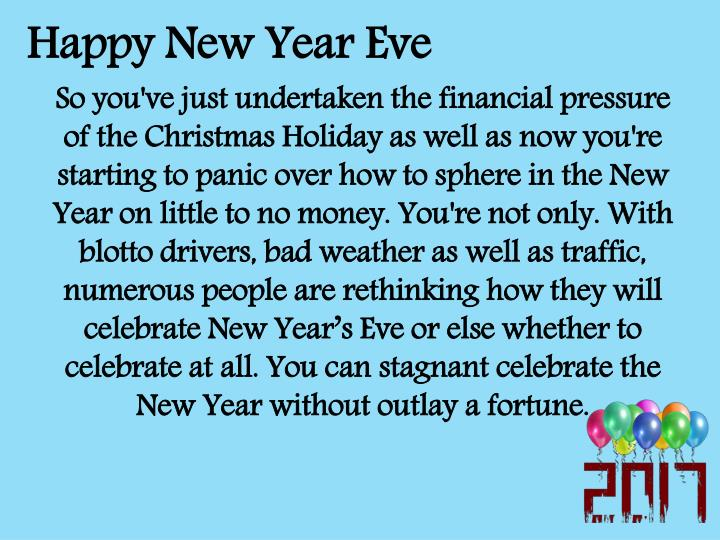 Happy New Year Eve
