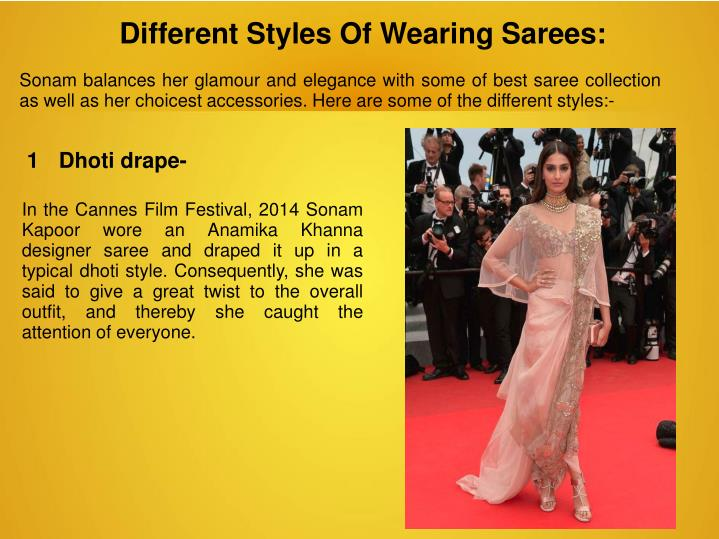 Different Styles Of Wearing Sarees: