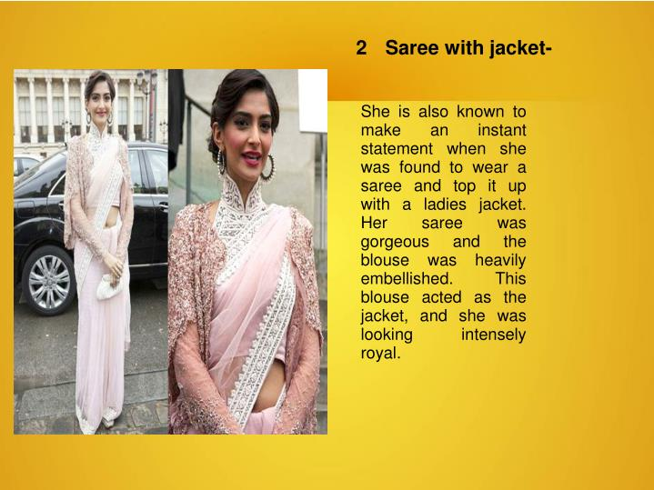 2	Saree with jacket-