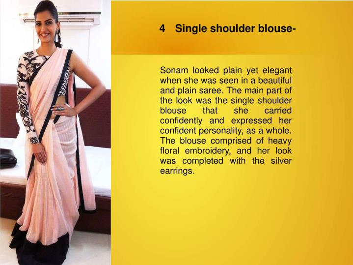4	Single shoulder blouse-