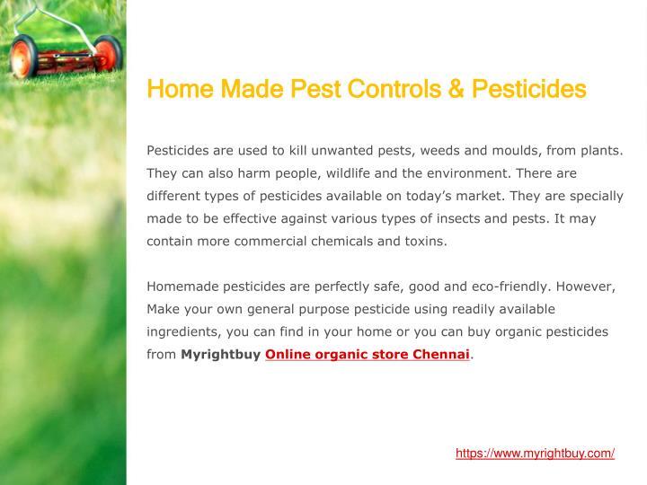 Home Made Pest Controls & Pesticides