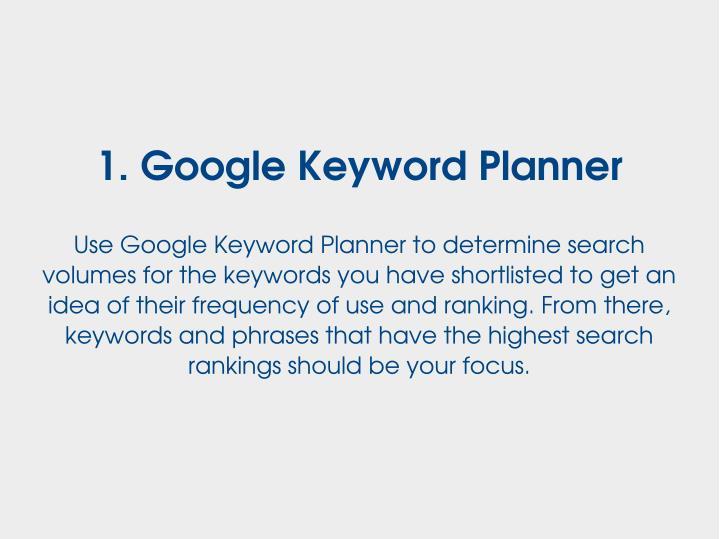 1.GoogleKeywordPlanner