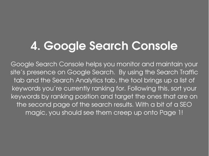 4.GoogleSearchConsole