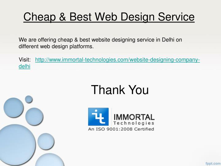 Ppt cheap best website designing company in delhi ncr for Best discount designer websites