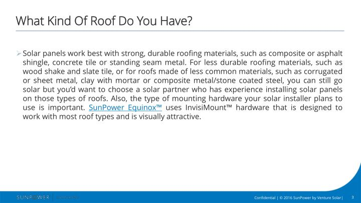 Ppt is my house a good candidate for solar powerpoint for What kind of roof do i have