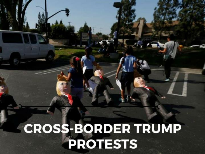 Cross fringe trump protests