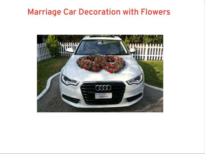 Marriage Car Decoration with Flowers