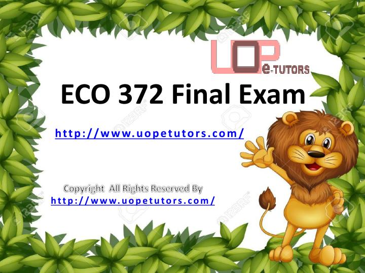 eco 372 final exam with answers Check out this amazing emaze  which provides many related courses eco 372 final exam answers eco 372 final exam questions and answers, eco.