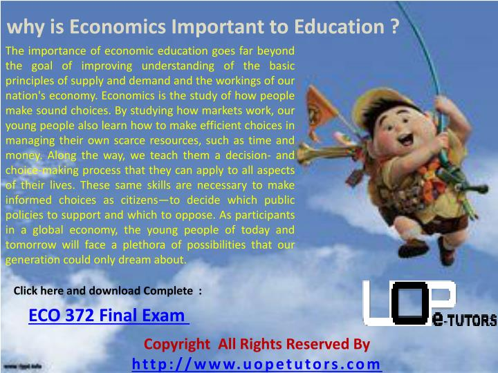 why is Economics Important to Education ?