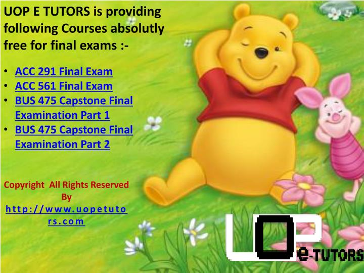 UOP E TUTORS is providing following Courses absolutly free for final exams :-