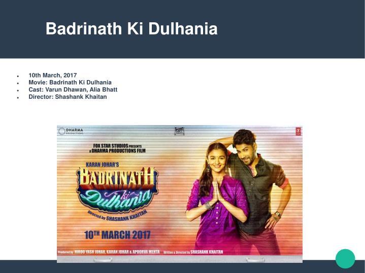 Badrinath Ki Dulhania