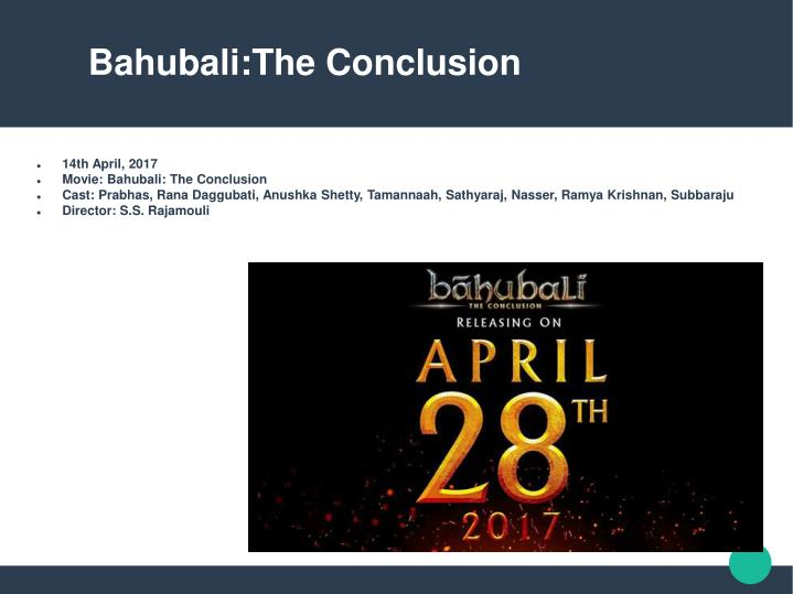 Bahubali:The Conclusion