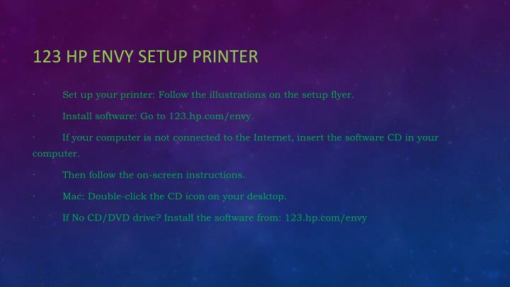 123 HP Envy setup Printer