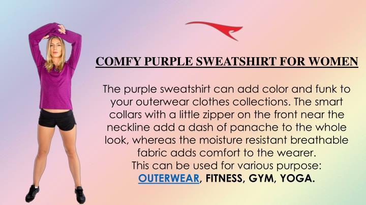 COMFY PURPLE SWEATSHIRT FOR WOMEN