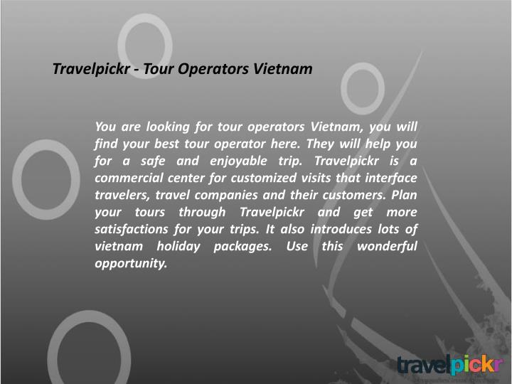 Travelpickr - Tour Operators Vietnam