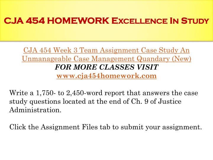 CJA 453 Flashcards Preview
